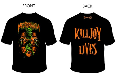 "NECROPHAGIA - KILLJOY TRIBUTE SHIRT ""FULCI"" (XL)"