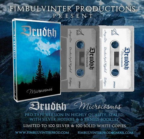 DRUDKH - MICROCOSMOS (CASSETTE) WHITE SHELL